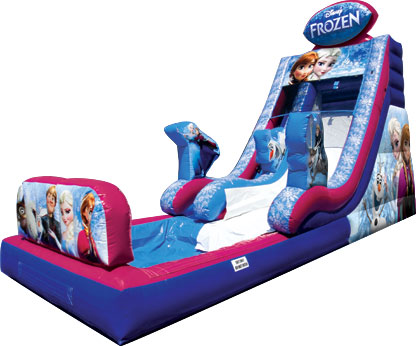 frozen bounce house sldie with pool ft myers