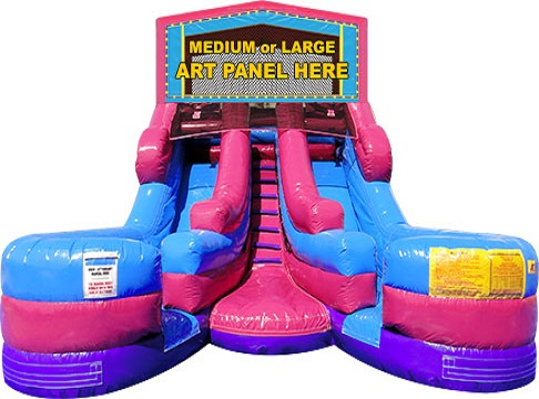 Double inflatable slide bounce house rental | Ft Myers | Cape Coral | Naples