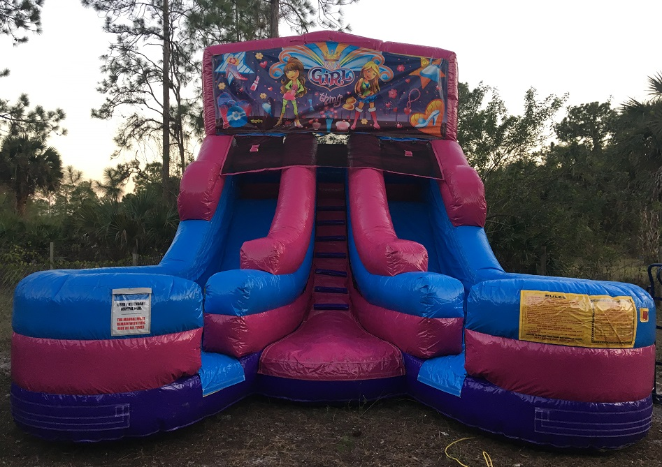 Dual Lane Water Slide Rental in Cape Coral | Ft Myers Florida